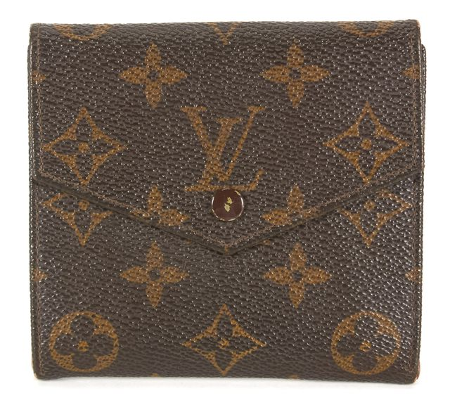 LOUIS VUITTON Vintage 1987 Brown Monogram Coated Canvas Double Snap Wallet