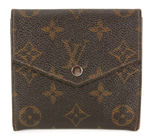 LOUIS VUITTON Vintage 1988 Brown Monogram Coated Canvas Double Bifold Wallet