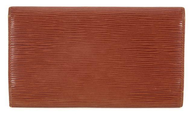 LOUIS VUITTON Brown Epi Leather Trifold Porte Tresor International Wallet