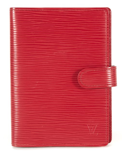 LOUIS VUITTON True Red Textured Epi Leather Agenda PM Wallet