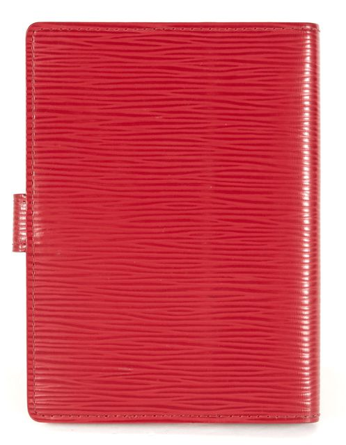 LOUIS VUITTON True Red Textured Epi Leather Agenda PM Wallet