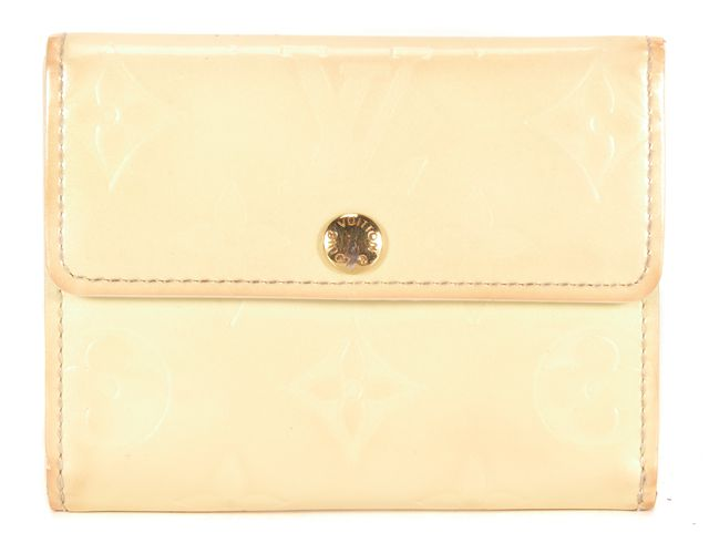 LOUIS VUITTON Ivory Monogram Vernis Patent Leather Elise Mini Wallet