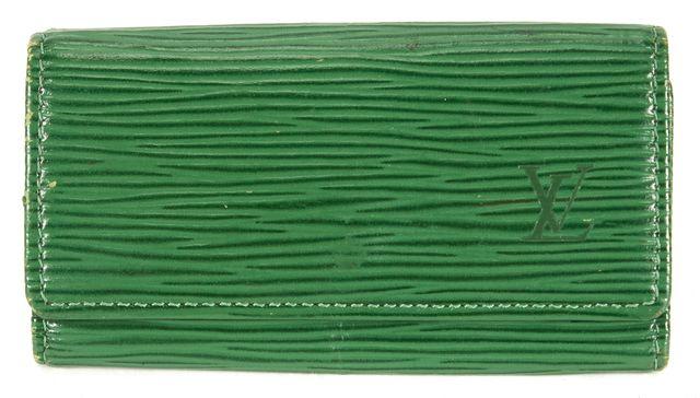 LOUIS VUITTON Borneo Green Epi Leather Multicles 4 Key Carrier