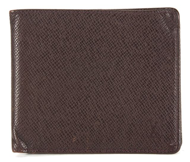 LOUIS VUITTON Dark Brown Taiga Leather Bifold Wallet