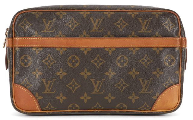 LOUIS VUITTON Brown Monogram Coated Canvas Compiegne Cosmetic Pochette