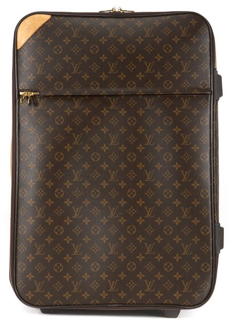 LOUIS VUITTON Brown Coated Canvas Pegase 65 Suitcase Luggage