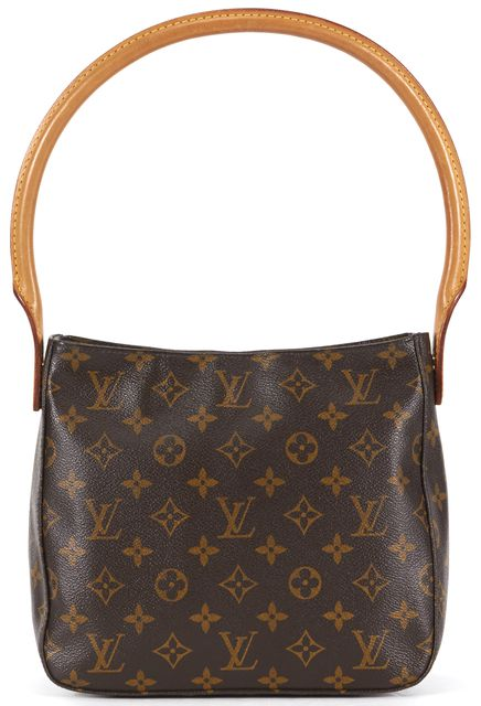 LOUIS VUITTON Brown Monogram Coated Canvas Looping MM Shoulder Bag