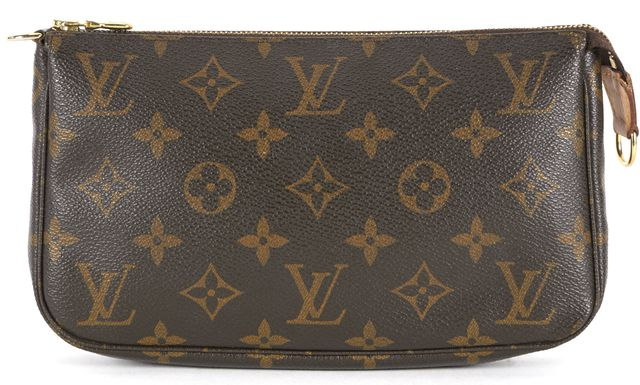 LOUIS VUITTON Brown Monogram Coated Canvas Pochette Clutch Bag