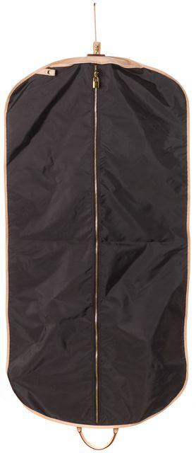 LOUIS VUITTON Brown Monogram Coated Canvas Leather Trim Garment Bag