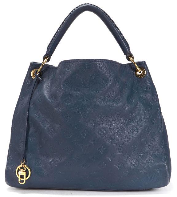 LOUIS VUITTON Orage Blue Empreinte Leather Artsy MM Hobo Shoulder Bag
