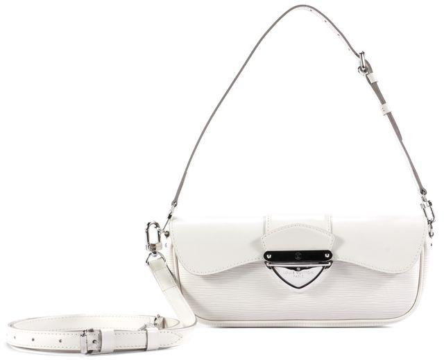 LOUIS VUITTON Cream White Gold Hardware Leather Crossbody Handbag