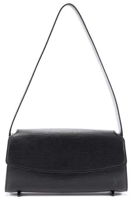 LOUIS VUITTON Black Epi Leather Shoulder Handbag