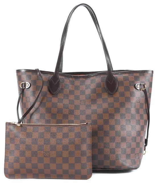 LOUIS VUITTON Brown Damier Ebene Canvas Neverfull MM Tote Handbag