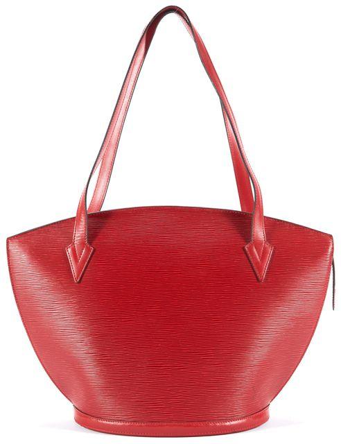LOUIS VUITTON Red St. Jacques Epi Leather Tote Shoulder Bag