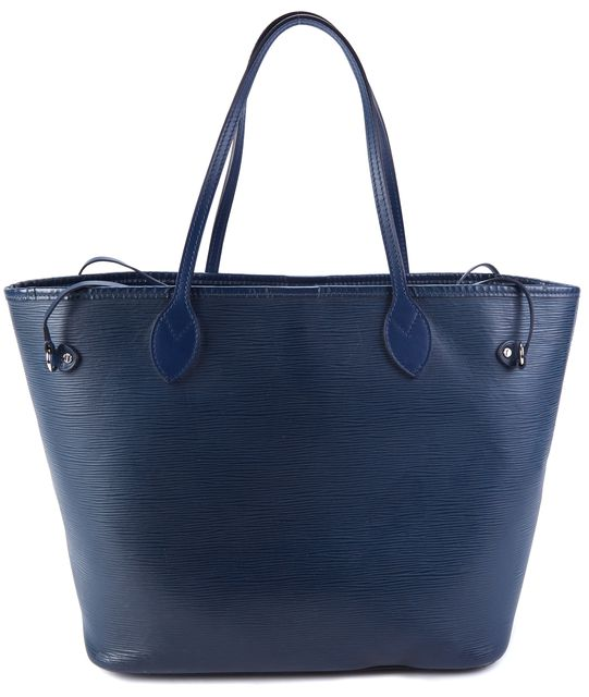 LOUIS VUITTON Navy Blue Epi Leather Neverfull MM Tote