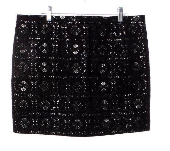 MAJE Black Silver Embellished Geometric Pattern Mini Skirt
