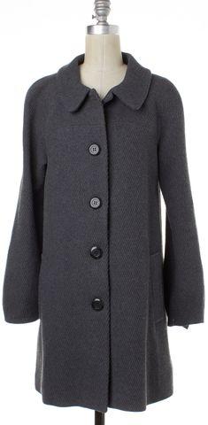 MAJE Gray Loose Fit Long Sleeves Single-Breasted Basic Coat
