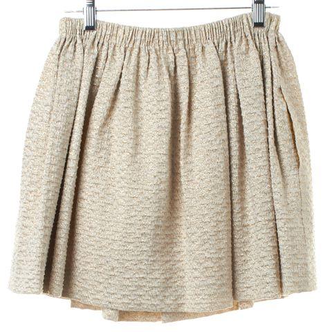 MAJE Gold Textured Mini Skirt