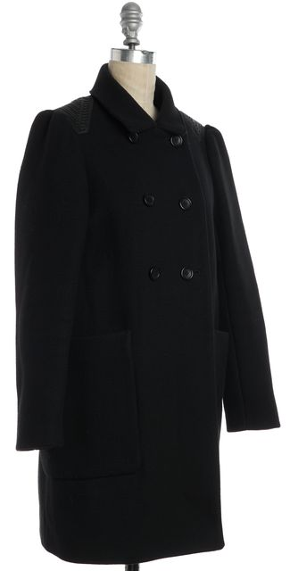 MAJE Blue Wool Basic Coat