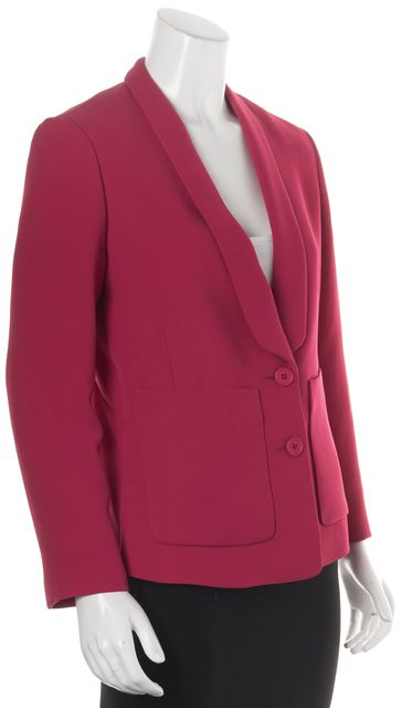MAJE Raspberry Pink Voila Button Front Large Pocket Blazer Blazer