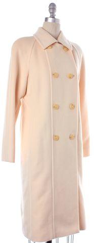 MAXMARA Ivory Wool Blend Double Breasted Long Pea Coat