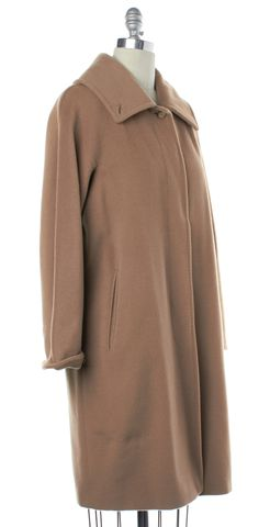 MAXMARA Light Brown Wool Coat Size 6