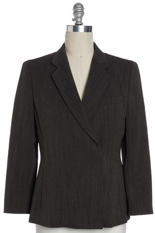 MAXMARA Black Beige Tweed Wool Blazer Size 10