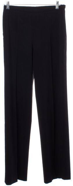 MAXMARA Black Wool Striped Dress Pants