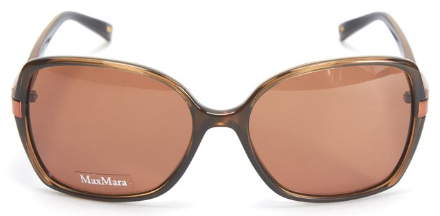 MAXMARA Brown Acetate Frame Squared Sunglasses