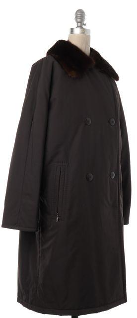MAXMARA Brown Fur Collar Long Coat