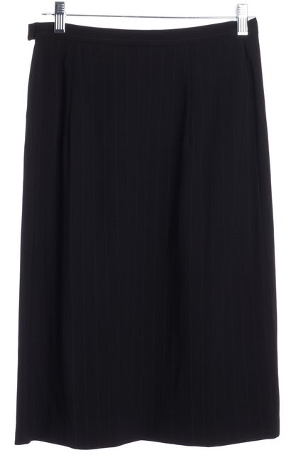 MAXMARA Black White Pinstriped Pencil Skirt