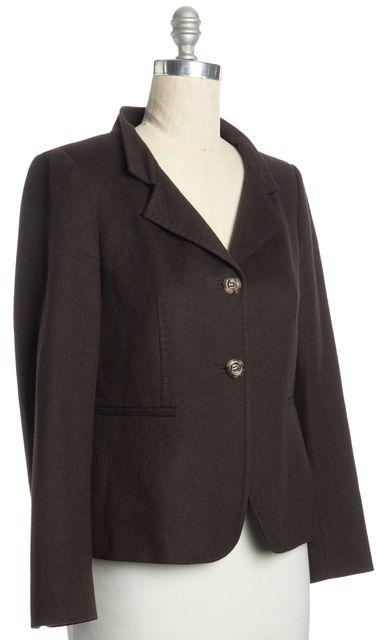 MAXMARA Brown Two Button Wool Blazer