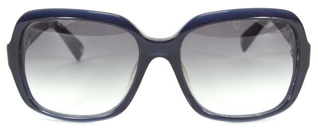MAXMARA Navy Blue Acetate Gradient Lens Sophia II Square Sunglasses w/ Case