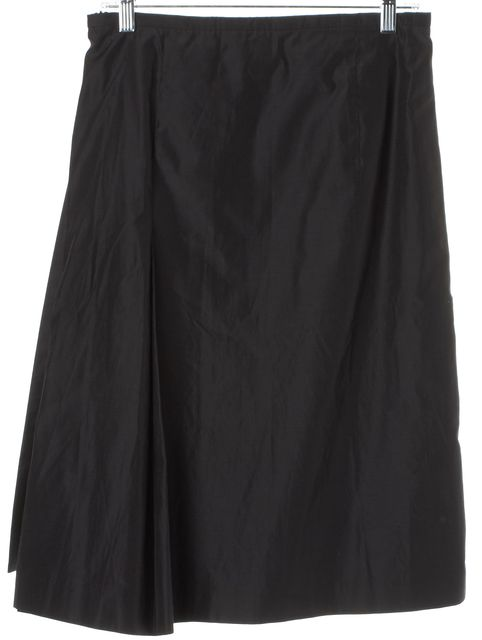 MAXMARA Gray Silk A-Line Skirt