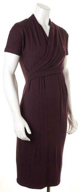 MAXMARA Plum Purple Knitted Sheath Dress
