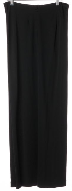 MAXMARA Black Wrap Effect Semi Sheer Maxi Skirt