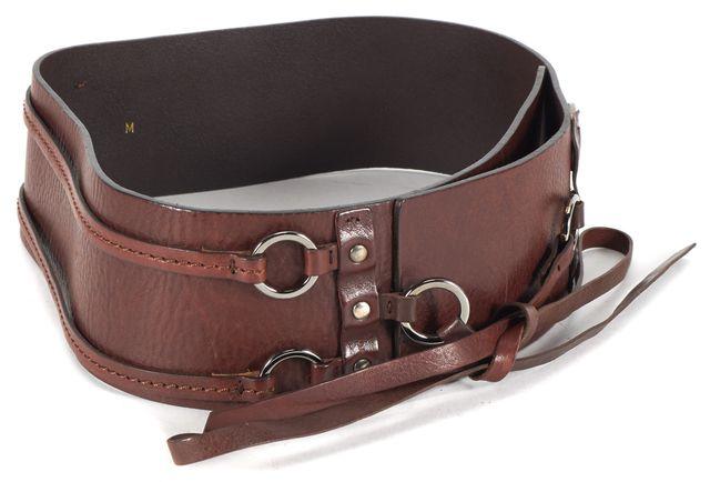 MAXMARA Brown Leather Wide Waist Belt