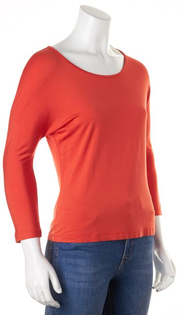 MAXMARA Orange Jersey 3/4 Sleeves Tee T-Shirt