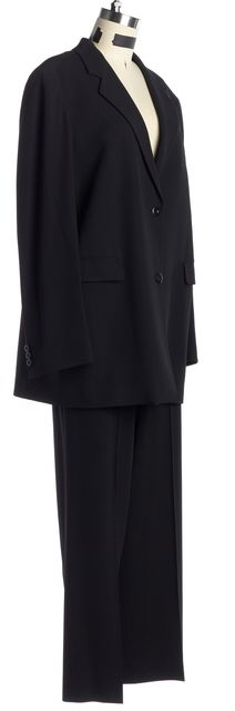 MAXMARA Black Wool Double Button Blazer Trouser Dress Pant Suit Set