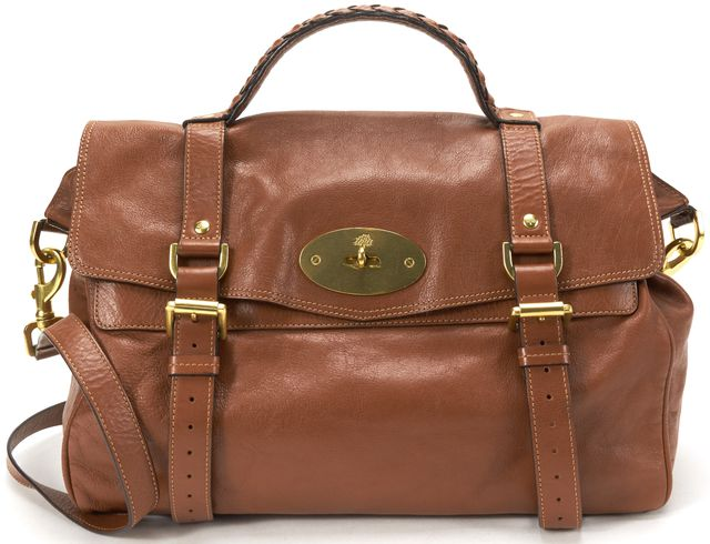 MULBERRY Brown Leather Alexa Satchel Handbag