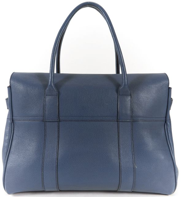 MULBERRY Blue Leather Bayswater Tote Handbag