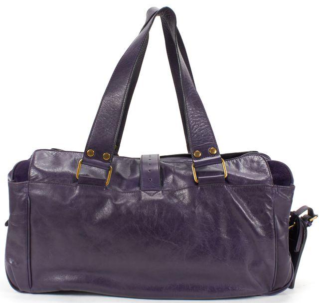 MULBERRY Purple Leather Mabel Buckle Detail Tote Shoulder Bag