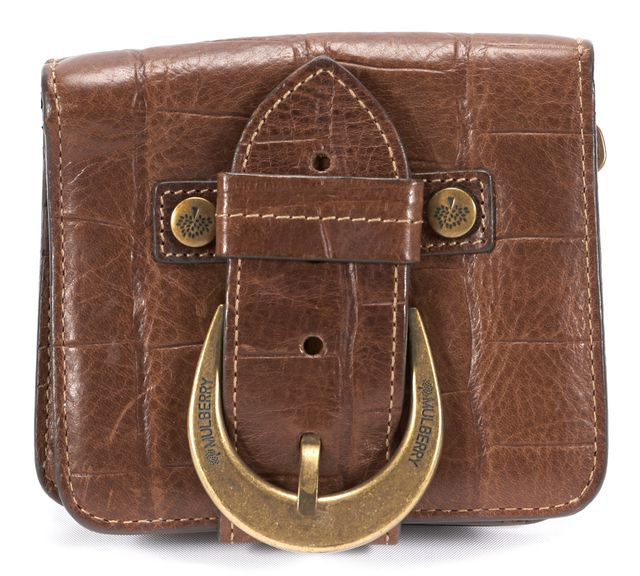 MULBERRY Brown Buckle Leather Wallet