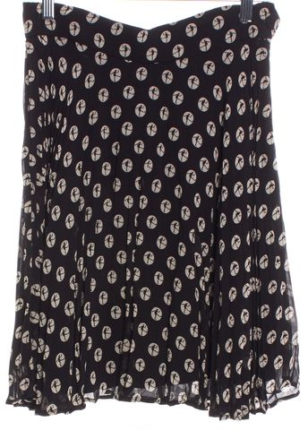 MOSCHINO CHEAP & CHIC Black Ivory Polka Dot Pleated Skirt