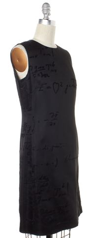 MOSCHINO CHEAP & CHIC Black Sleeveless Print Sheath Dress