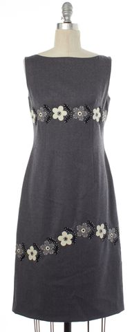 MOSCHINO CHEAP & CHIC Gray Flower Detail Pencil Dress Fits Like a M