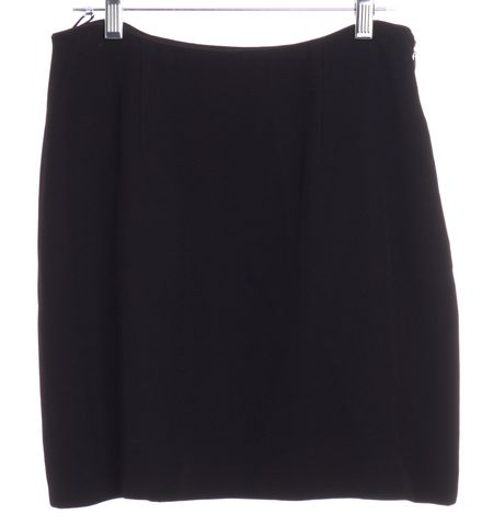 MOSCHINO CHEAP & CHIC Black A-Line Envelope Detail Skirt