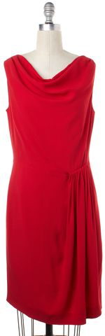MOSCHINO CHEAP & CHIC Red Sleeveless Sheath Dress