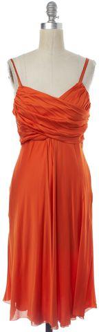 MOSCHINO CHEAP & CHIC Orange Silk Empire Waist Dress