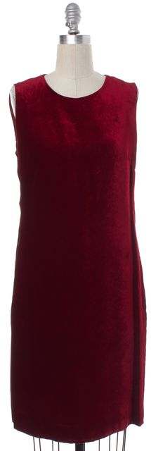 MOSCHINO CHEAP & CHIC Red Velvet Sleeveless Sheath Dress